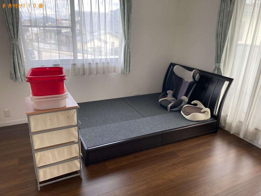 【福島市】遺品整理でゴミ箱、布団、ダブルベッド、ベッドマットレス等の回収