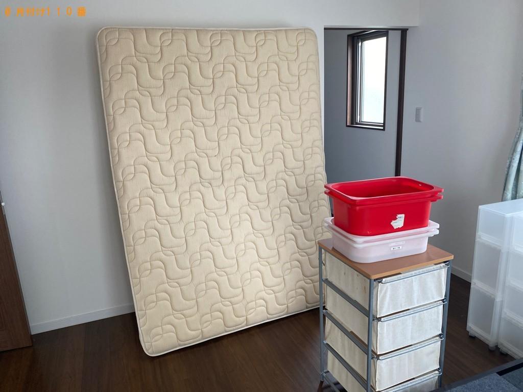 【いわき市】ゴミ箱、布団、ダブルベッド、ベッドマットレス等の回収