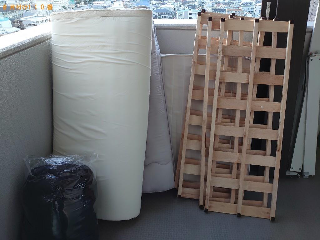 【いわき市】布団、マットレス付きダブルベッドの回収・処分ご依頼